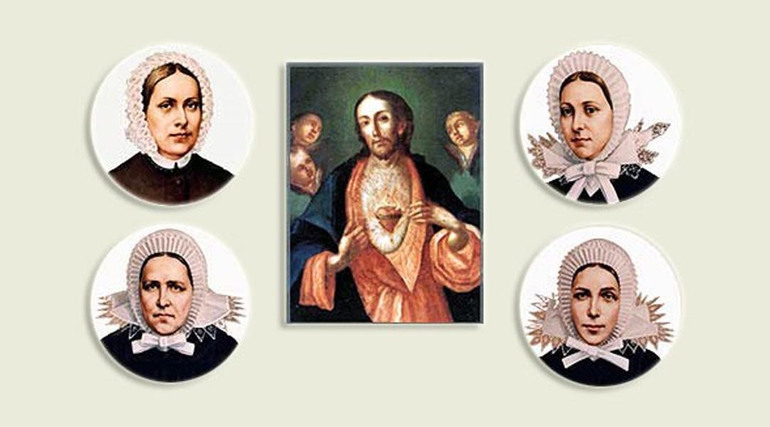 Portrety sióstr zakonnych wokół portretu Jezusa